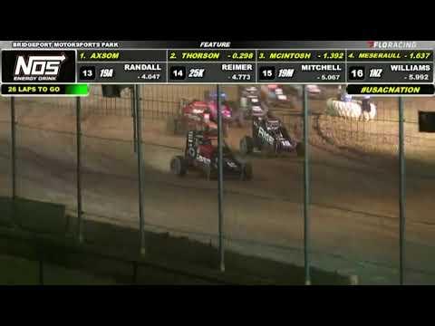 HIGHLIGHTS: USAC NOS Energy Drink National Midgets   8/5/2021   Bridgeport Motorsports Park - dirt track racing video image