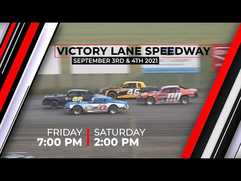 Friday & Saturday September 3rd & 4th 2021, LIVE on PPV from Victory Lane Speedway - dirt track racing video image