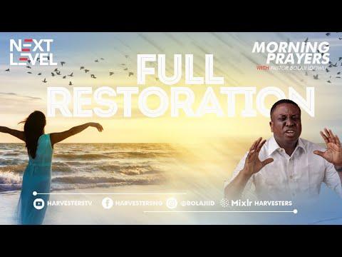 Next Level Prayer  Full Restoration Pst Bolaji Idowu  30th April 2021