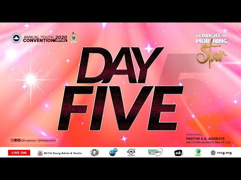 DAY 5 RCCG YOUTH CONVENTION 2020 - AFTERNOON  SESSION