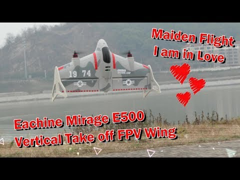 Eachine Mirage E500 VTOL Vertical Take Off FPV Racing Flying Wing - UCsFctXdFnbeoKpLefdEloEQ