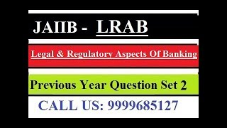 JAIIB Legal And Regulatory Aspects Of Banking [Previous Year Question Part 1]