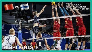 China vs Finland   Highlights   Day 1   Men's Volleyball Olympic Qualification Tournament 2019