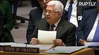 Abbas attends UNSC meeting on Israel-Palestine