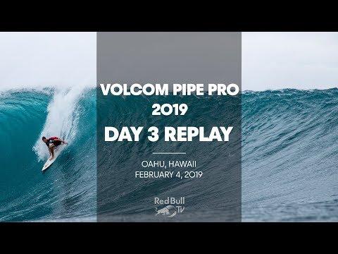 Surfing Replay - Volcom Pipe Pro 2019 - Day 3 - UCblfuW_4rakIf2h6aqANefA