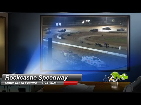 Rockcastle Speedway - Super Stock Feature - 7/24/2021 - dirt track racing video image