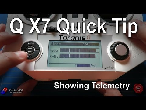 Taranis Q X7 Quick Tips: Setting up and using/showing telemetry (RSSI etc.) - UCp1vASX-fg959vRc1xowqpw