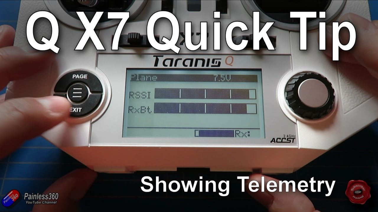 Taranis Q X7 Quick Tips: Setting up and using/showing