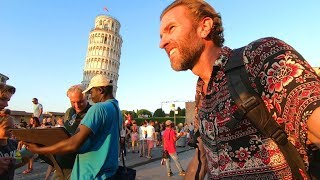 Walking Through Pisa, Italy To The Leaning Tower