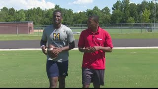 On the field with Mount de Sales' Dexter Williams
