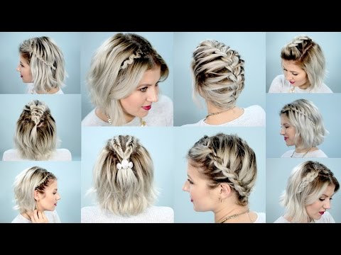 10 EASY BRAIDS FOR SHORT HAIR TUTORIAL | Milabu - UC6-wCxc9nHUEB9srfgUslNg