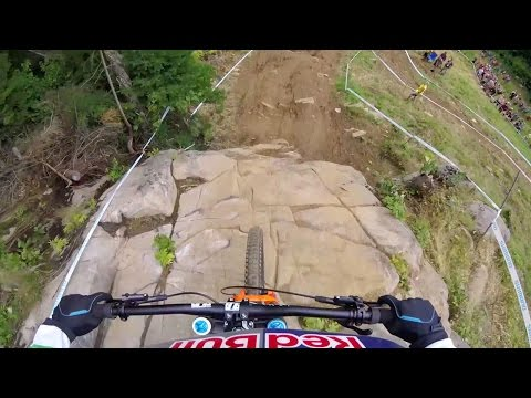 Rachel Atherton's DH MTB Title Winning Run: GoPro View | UCI MTB World Cup 2016 - default