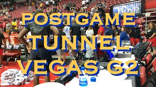Smailagic, Bowman, Poole & Evans postgame tunnel, Warriors (1-1) win in Vegas Summer League vs TOR