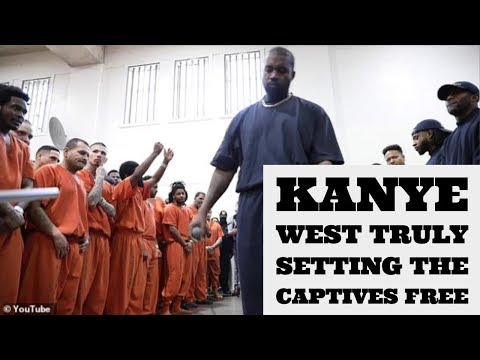Kanye West Goes to Prison to Set the Captives Free in Jesus' Name