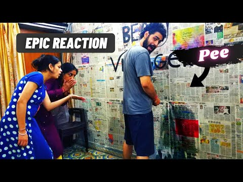 PEEING ON WALL ( EPIC REACTION ) || Beast Vloggers