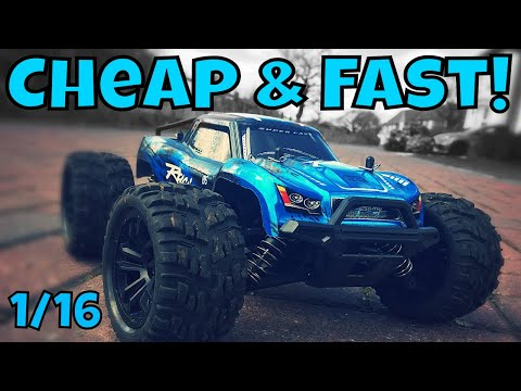 Cheap 1/16 Scale RC Car. Unboxing and Review G174 Monster Truck - UCSgcnNUXj1466tP-bm2ZdGA