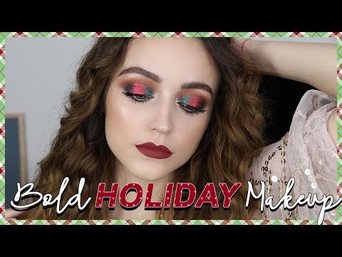 RED + GREEN HOLIDAY MAKEUP LOOK - UC8v4vz_n2rys6Yxpj8LuOBA