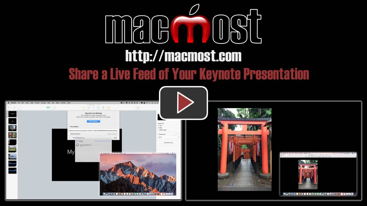 share a live feed of your keynote presentation macmost