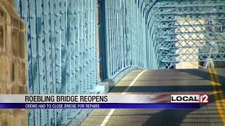 Roebling Suspension Bridge reopens to traffic