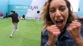 Wayne Bridge, Chelcee Grimes and AJ Odudu | Penalties, Volleys & Free-Kicks | Soccer AM Pro AM
