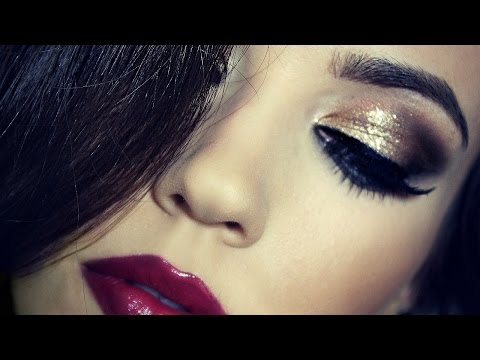 Birthday Makeup Tutorial | Gold Dramatic Makeup | TheMakeupChair - UC-1-zPmT368J8JRbsK_1keA