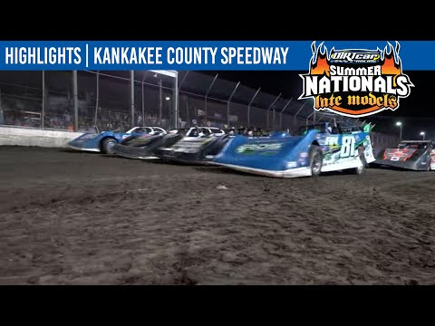 DIRTcar Summer Nationals Late Models Kankakee County Speedway June 17, 2021   HIGHLIGHTS - dirt track racing video image