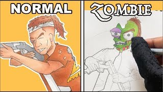 Turning My Original Characters Into Zombies! - Part 3