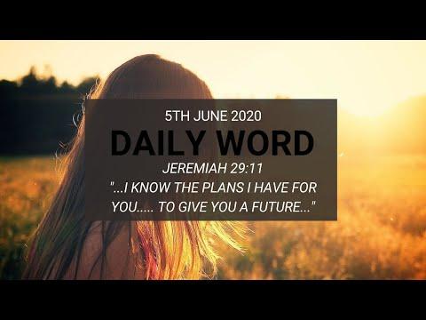 Daily Prophetic 5 June 2020 Jeremiah 29 11