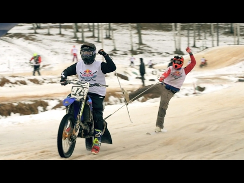 Extreme Ski Racing Behind Motorcycles | Red Bull Twitch N' Ride 2017 - UCblfuW_4rakIf2h6aqANefA