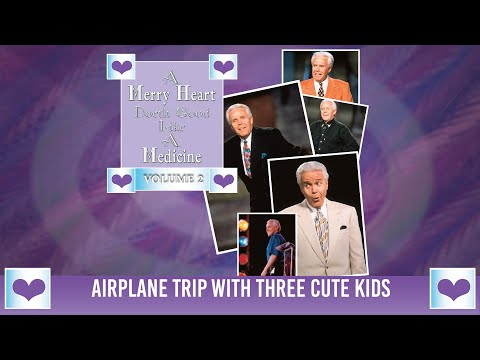 Merry Heart: Airplane Trip With Three Cute Kids  Jesse Duplantis