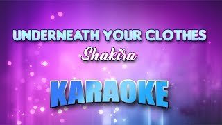 Underneath Your Clothes (Karaoke version with Lyrics)