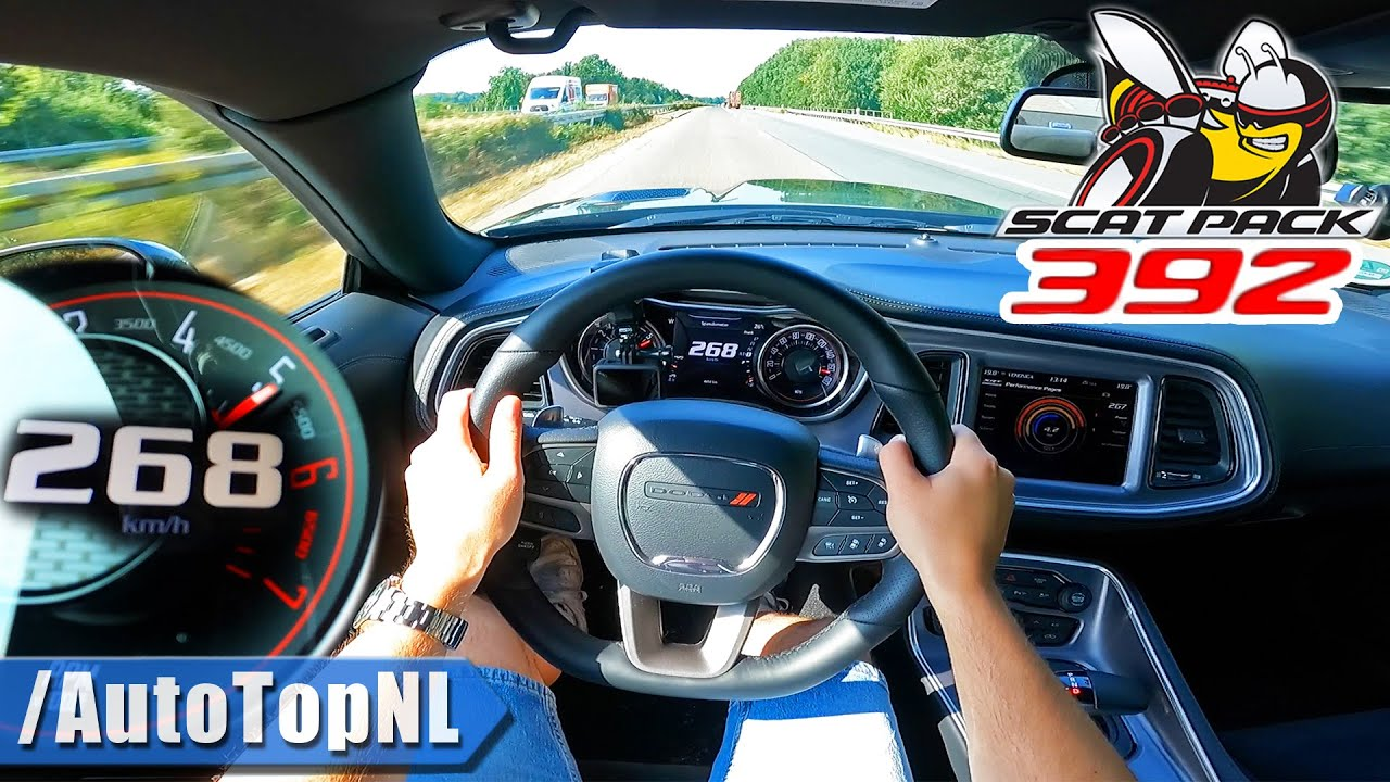 Dodge Challenger R/T SCAT PACK 392 | 6.4 HEMI V8 | 268KM/H on AUTOBAHN [NO SPEED LIMIT] by AutoTopNL