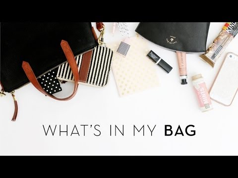 What's in my Bag   Summer 2014