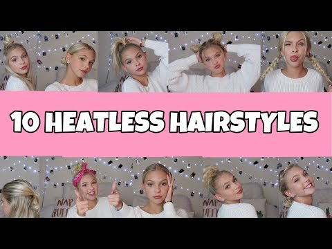 10 EASY HEATLESS HAIRSTYLES! - UCs11Yv5OnpY_b3Bff5ZJ9kw