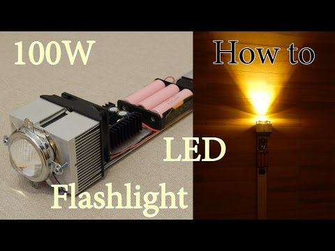 How to make 100W Flashlight ULTRA BRIGHT at home, DIY, 18650 - UCbebyfguuvC8sW5Ry4qwl1g