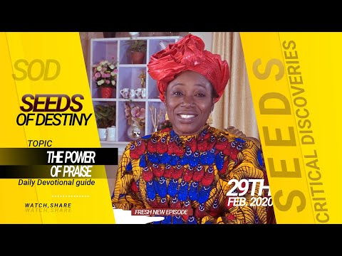 Dr Becky Paul-Enenche - SEEDS OF DESTINY - SATURDAY 29TH FEBRUARY, 2020