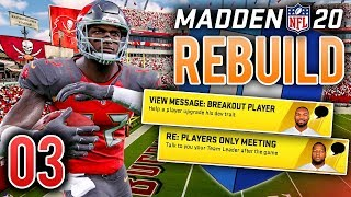 Madden 20 Franchise Rebuild Ep.3 - Our First Breakout Player?