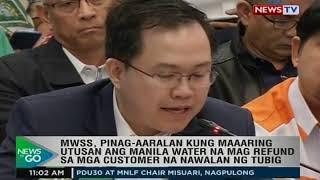 NTG: MWSS, pinag-aaralan kung maaaring utusan ang Manila Water na mag refund...