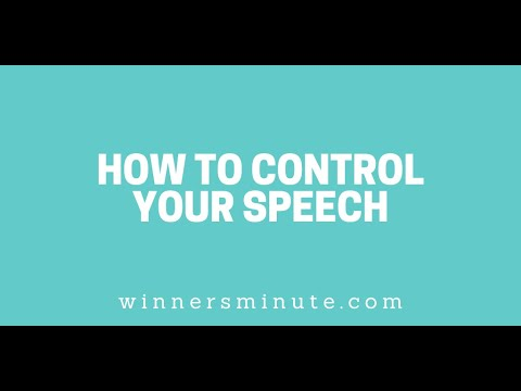 How to Control Your Speech // The Winner's Minute With Mac Hammond