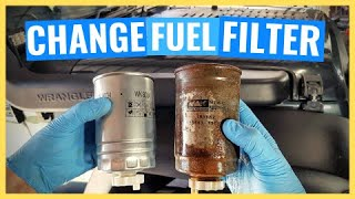 Smontaggio filtro gasolio Jeep Wrangler 2.8 Crd JK