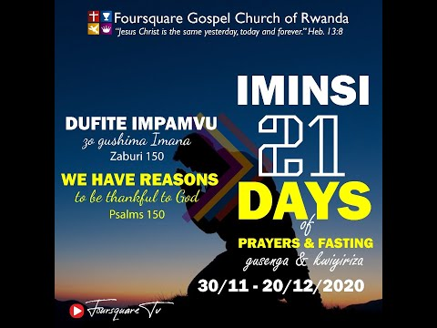 FOURSQUARE  DAY 5 OF 21 DAYS OF PRAYERS AND FASTING WITH EV. NGENDO CHRISTOPHE - 04/12/2020