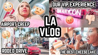 LA VLOG PT.1 🇺🇸 MISSED MY FLIGHT 😅 AIRPORT CREEP 😳 BEAUTY CON (NOT WORTH $2000) 🤔 JAZ HAND