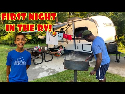 OUR FIRST CAMPING TRIP IN AN RV | Shaw AFB Lake Wateree