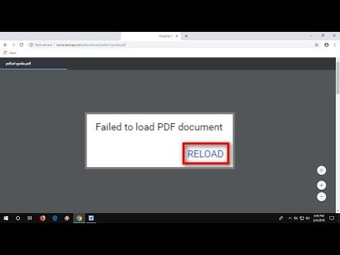 How to Fix Failed to load PDF Document in Chrome Browser