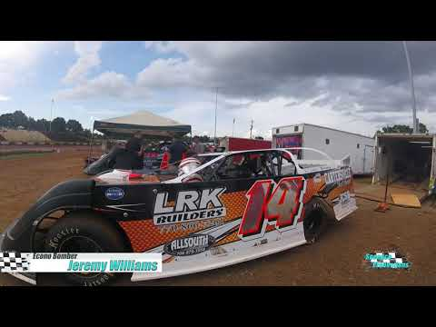 Ride along with Jeremy Williams as he races his way around historic Dixie Speedway on 07/24/2021 - dirt track racing video image