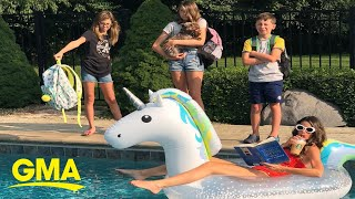 Mom takes hilarious back-to-school pictures with kids | GMA Digital