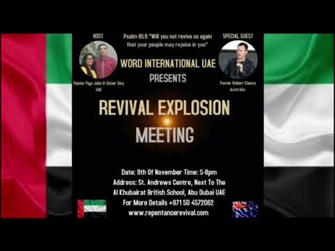 REVIVAL EXPLOSION COMING TO UNITED ARAB EMIRATES 9TH OF NOVEMBER 2019