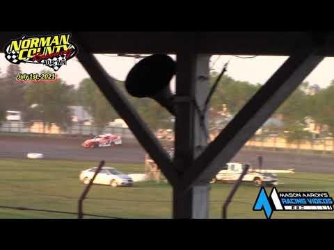 Norman County Raceway IMCA Sport Mod A-Main (7/1/21) - dirt track racing video image