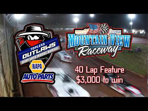 Topless Outlaws Feature @ Mountain View Raceway May 22, 2021 - dirt track racing video image