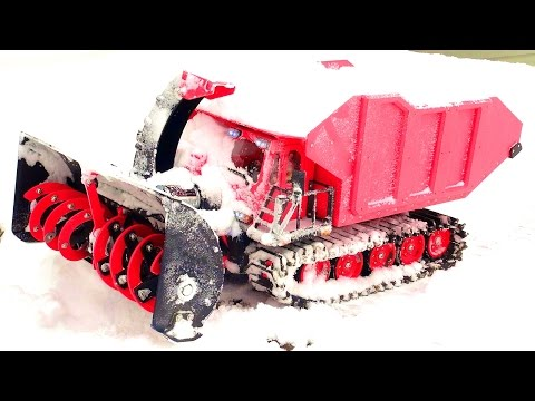 RC SNOW KAT goes to WORK Clearing a Path! SPYKER KAT & Blower w/ DUMP Bed | RC ADVENTURES - UCxcjVHL-2o3D6Q9esu05a1Q